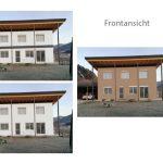 Vorvisualisierung einer Außenfassade mit verschiedenen Möglichkeiten
